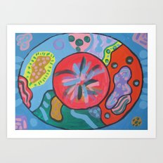 Abstract4 Easter Egg Art Print