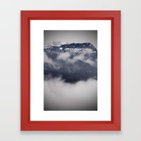 Cold Columbia Gorge Morning Staring Into Washington's Mountains Framed Art Print