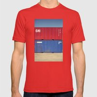 Container 3 Mens Fitted Tee Red SMALL