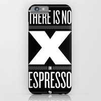 iPhone & iPod Case featuring No X in Espresso – Dark Grey by DCILY, LLC