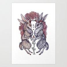 Rare Hearts Art Print
