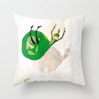 Lettuce Woman Throw Pillow