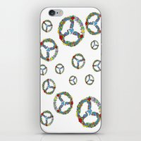 Peace Symbol in Flowers iPhone & iPod Skin