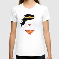 Wonder Girl Womens Fitted Tee White SMALL
