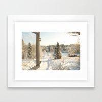 Finland in the winter - Fiskars Artist Village Framed Art Print