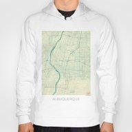 Albuquerque Map Blue Vin… Hoody