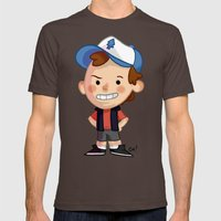 DIPPER! Mens Fitted Tee Brown SMALL