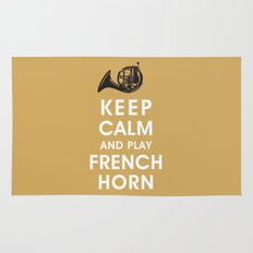 Keep Calm and Play French Horn Rug