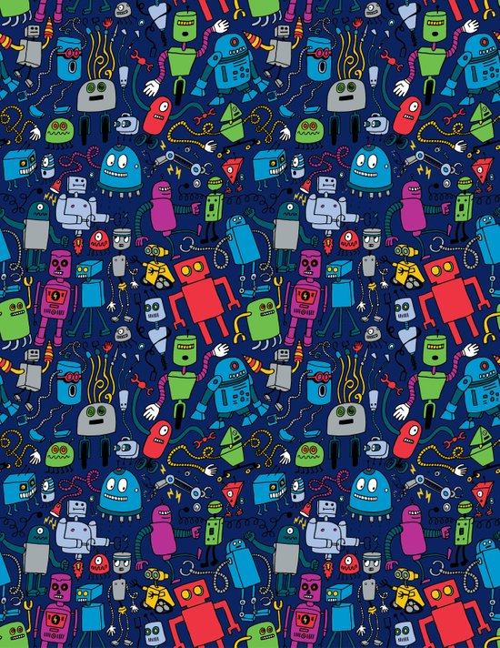 Robots Forever! Canvas Print