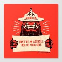 Ranger Cornelius Says... (swears) Canvas Print