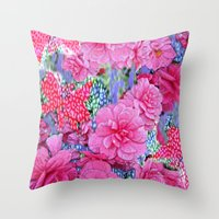 The Cat's Out Again! Throw Pillow