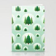 Geometric Christmas Tree… Stationery Cards