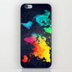 World Map Watercolor 6 iPhone & iPod Skin