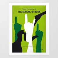 No668 My The School of Rock minimal movie poster Art Print