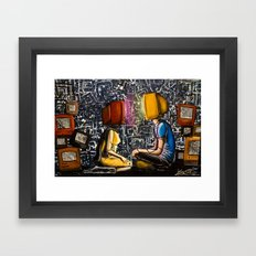 Fixed With Cable Television Framed Art Print