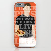 iPhone Cases featuring Pushing Daisies - Ned by MacGuffin Designs
