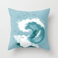 Sound Wave Throw Pillow