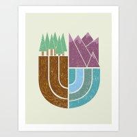 Mountain Crest Art Print
