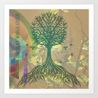 Color My World Green Art Print