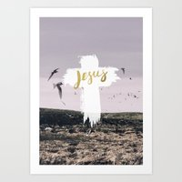 JESUS | EASTER | CROSS Art Print