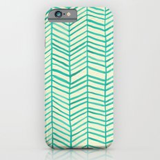 Mint Herringbone Slim Case iPhone 6s