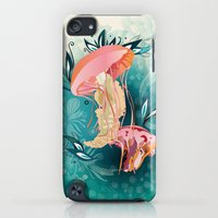 iPod Touch Cases featuring Jellyfish tangling by /CAM