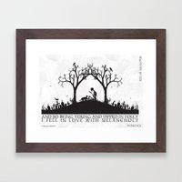 Edgar Allan Poe Black An… Framed Art Print