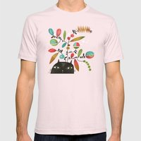 FLOWERING THOUGHT Mens Fitted Tee Light Pink SMALL