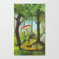 Frog in the Forest Canvas Print