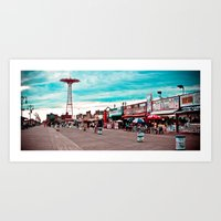 Coney Island The Best Place on Earth! Art Print