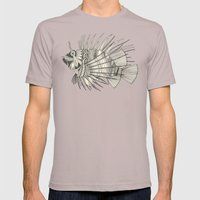 fish mirage chartreuse Mens Fitted Tee Cinder SMALL