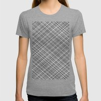 Weave 45 Black And White Womens Fitted Tee Tri-Grey SMALL
