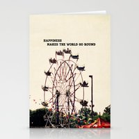 happiness makes the world go round Stationery Cards