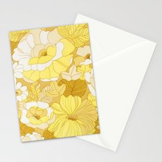 Retro floral sheets yellows Stationery Cards
