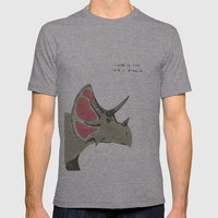 triceratops Mens Fitted Tee Athletic Grey SMALL