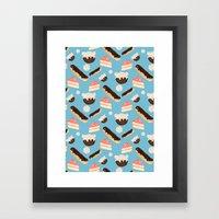 sweet things (on blue) Framed Art Print