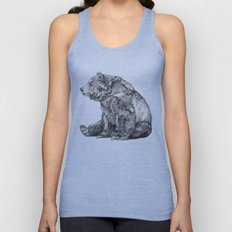 Bear // Graphite Unisex Tank Top
