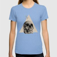 2078 Womens Fitted Tee Tri-Blue SMALL