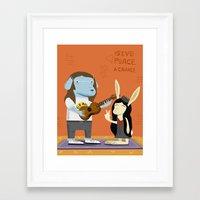 Lennon Dog And Yoko Bunn… Framed Art Print