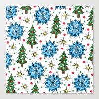Christmas Trees And Star… Canvas Print