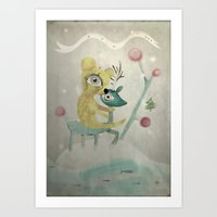 Vintage Whimsical Christ… Art Print