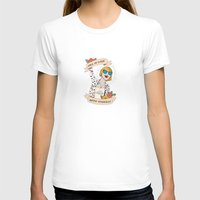 Fall in love with yourself Womens Fitted Tee White SMALL