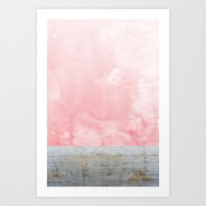 Concrete and Pink Art Print
