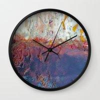 entropic floral dreams Wall Clock