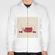 Raspberry Tea (Retro and Vintage Still Life Photography) Hoody