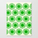 Vintage Flower_Green Canvas Print