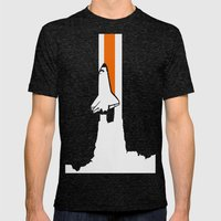 Launch me - The Final Flight of the Space Shuttle Mens Fitted Tee Tri-Black SMALL