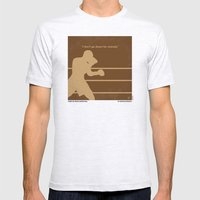 No174 My Raging Bull minimal movie poster Mens Fitted Tee Ash Grey SMALL
