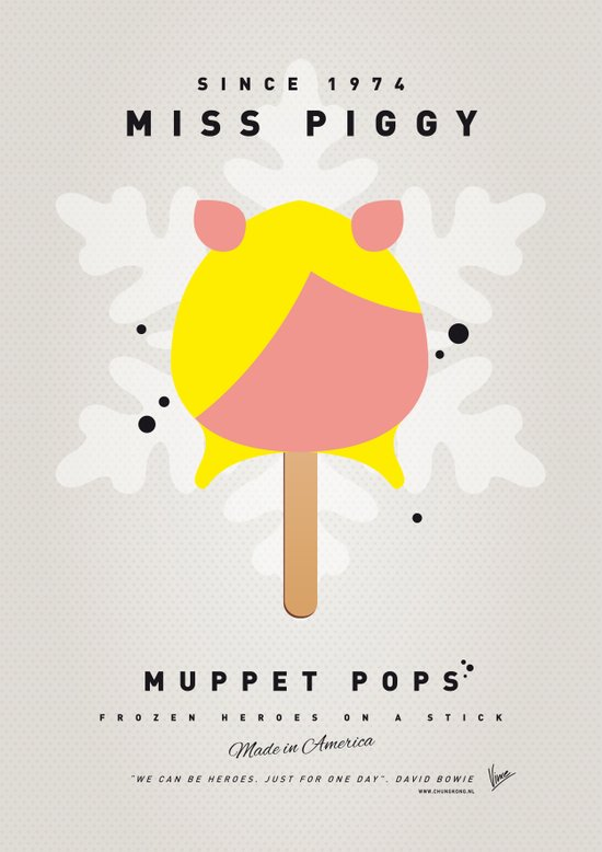 My MUPPET ICE POP - Miss Piggy Canvas Print