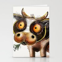 cow Stationery Cards featuring Cow by Riccardo Pertici